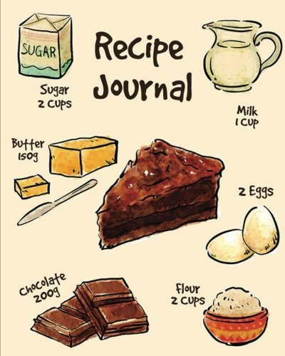 "Recipe Journal: (Recipe Journal Vol. 20) Glossy And Soft Cover, (Size 8"" x 10"") Blank ..."