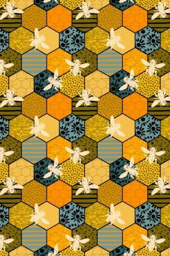 Bullet Journal Notebook Honey Bees Pattern 4: Girl, Paper