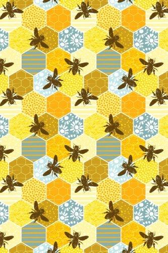 Bullet Journal Notebook Honey Bees Pattern 1: Girl, Paper