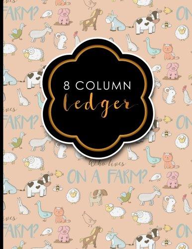 8 Column Ledger: Ledger Pad, Accounting Ledgers: Publishing, Moito