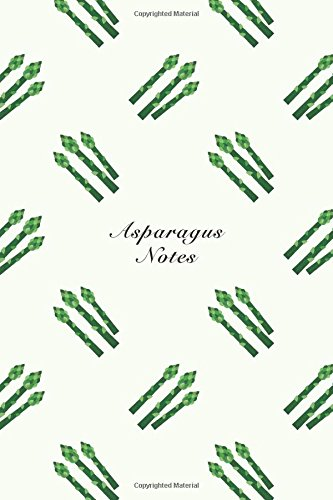 """Asparagus Notes: 6""""x9"""" Notebook Watercolor Texture Design: Storyteller, Another"""