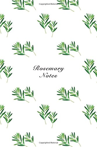 """Rosemary Notes: 6""""x9"""" Notebook Watercolor Texture Design: Storyteller, Another"""