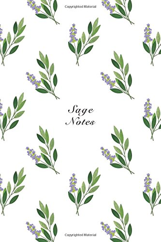 """Sage Notes: 6""""x9"""" Notebook Watercolor Texture Design: Storyteller, Another"""