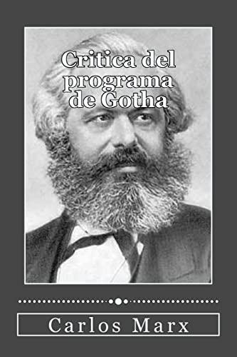 Critica del Programa de Gotha: Marx, Carlos