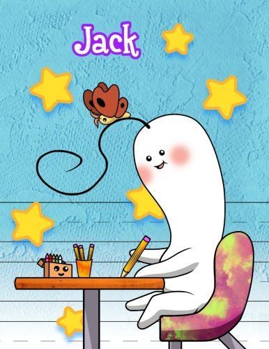 Jack: Personalized Book with Child's Name, Primary Writing Tablet, 65 Sheets of Practice Paper,...