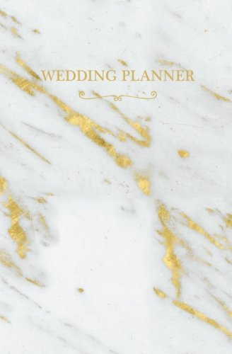 Wedding Planner: White Gold Marble Blank Wedding Planning Notebook, 110 Lined Pages, 5.25 x 8, ...