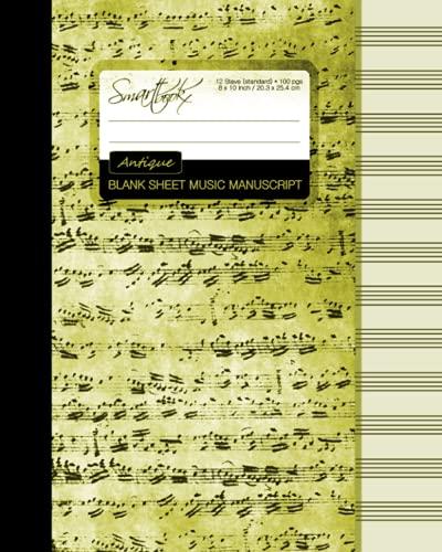 Blank Sheet Music: Manuscript or Staff Paper: smART bookx