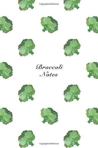 """Broccoli Notes: 6""""x9"""" Unruled Blank Notebook Watercolor: Storyteller, Another"""