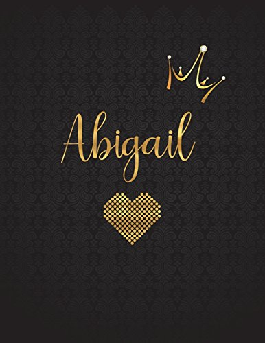 Abigail: Personalized Black XL Journal with Gold: Panda Studio