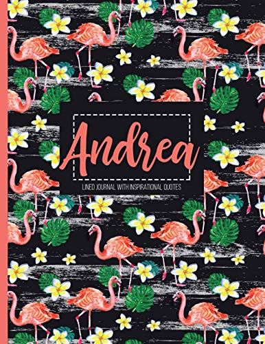 Andrea: Personalized Black XL Journal with Gold: Panda Studio