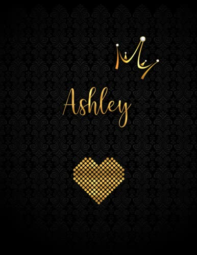 Ashley: Personalized Black XL Journal with Gold: Panda Studio
