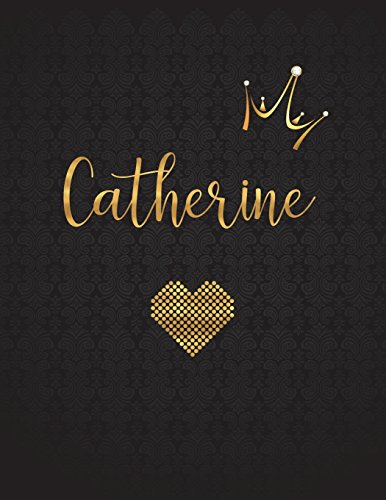 Catherine: Personalized Black XL Journal with Gold: Panda Studio