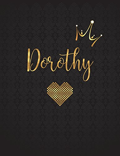 Dorothy: Personalized Black XL Journal with Gold: Panda Studio
