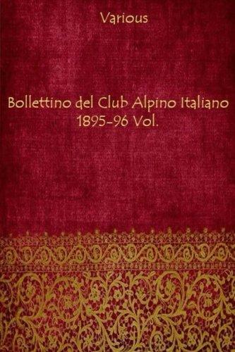 9781981265701: Bollettino Del Club Alpino Italiano 1895-96