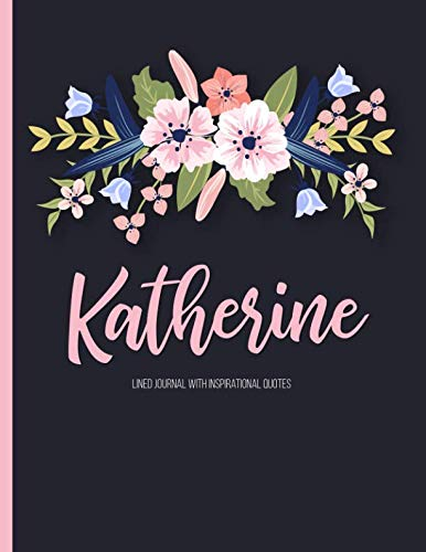 Katherine: Personalized Black XL Journal with Gold: Panda Studio