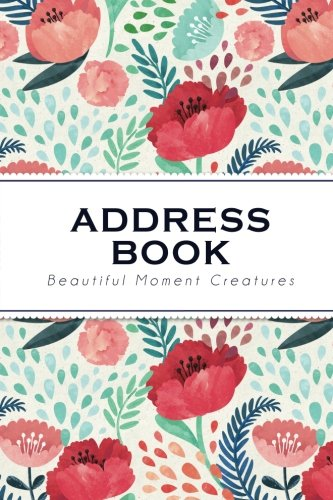Address Book: Colorful Flower   The Address Book with Tabs (Small Size) Address, Phone, Email, ...