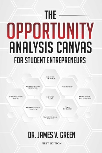 The Opportunity Analysis Canvas for Student Entrepreneurs: Green, Dr James