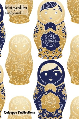 Matryoshka Lined Journal: Medium Lined Journaling Notebook,: Publications, Quipoppe