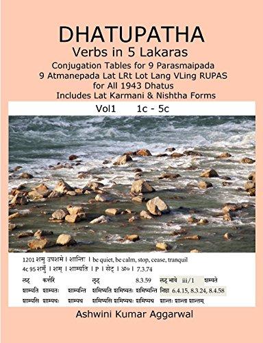 Dhatupatha Verbs in 5 Lakaras: Conjugation Tables: Aggarwal, Ashwini Kumar