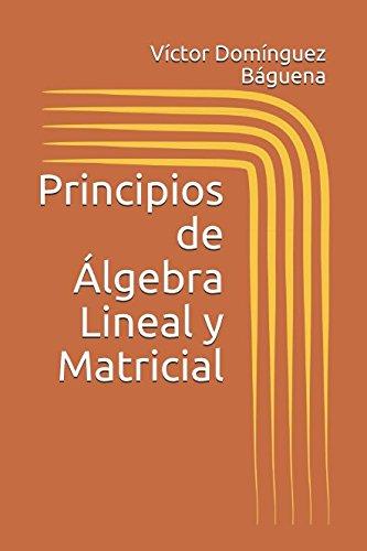 9781982925710: Principios de Álgebra Lineal y Matricial