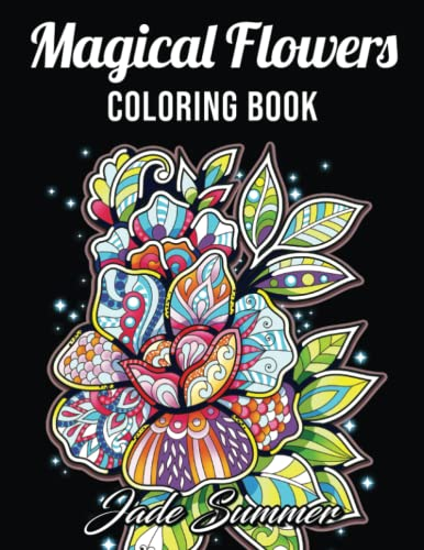 9781983369773: Adult Coloring Book: 50 Relaxing Flower Designs with Mandala Inspired Patterns for Stress Relief