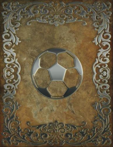 Monogram Football, Soccer Sketchbook: Blank Art Pad Notebook Journal (Monogram Rustic 150 Sketch) (...