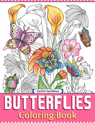9781983674839: Butterflies: Coloring Book for Adults