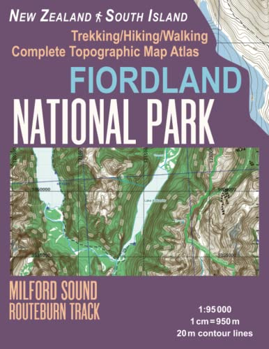 Fiordland National Park Trekking/Hiking/Walking Complete Topographic Map: Mazitto, Sergio