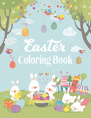 Easter Coloring Book: Adult Coloring Book with fun, Happy Easter, Relaxing Coloring Pages, Easter ...