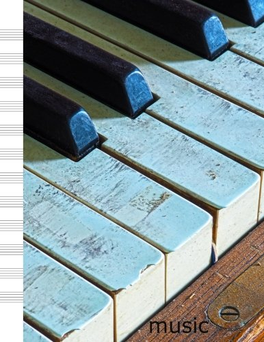 Music: Antique Piano Keys Design Cover -: Kmc Notebooks and