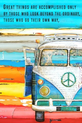 9781986902533: Journal: Vintage Volkswagen Vw Bus Art by Danny Phillips, Blank Lined Journal, Diary, Graduation Gift, 6x9 inches (Danny Phillips Art Series) (Volume 1)