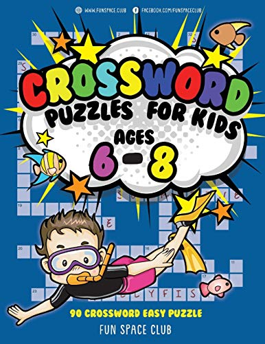 9781987474756: Crossword Puzzles for Kids Ages 6 - 8: 90