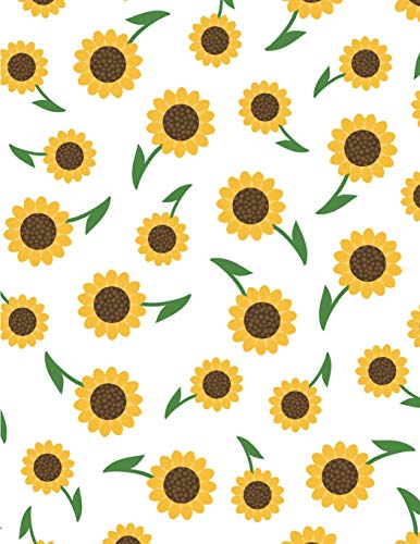 Sunflower Notebook: Yellow Flower Notebook Lined Ruled Page For Girl Women Great For Writing Summer...