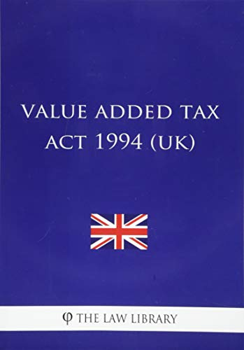 Value Added Tax ACT 1994: The Law Library