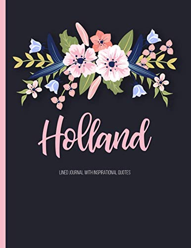 Holland: Personalized Floral XL Journal with Pink: Panda Studio