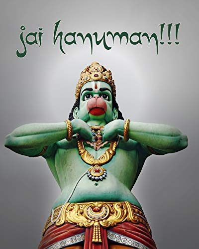 9781987869439: Jai Hanuman!!!: 200-page Blank Writing Journal With Hanuman (Hindu Monkey Deity) - 8 x 10 Inches (Symbology Series of Writing Journals) (Volume 1)