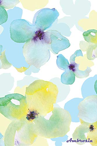 9781987869965: Ambrosia: 150-page Blank Writing Journal With Watercolor Flower Painting on Cover (6 x 9 Inches / White) (Watercolor Diaries) (Volume 2)