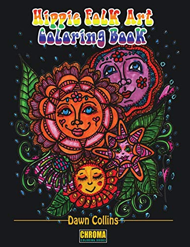 Hippie Folk Art Coloring Book Adult Coloring Book With 50