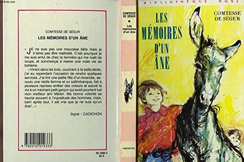 9782010019333: Les Mémoires d'un âne
