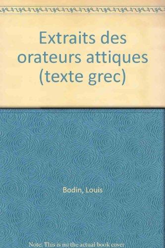9782010029875: Extraits des orateurs attiques (texte grec)