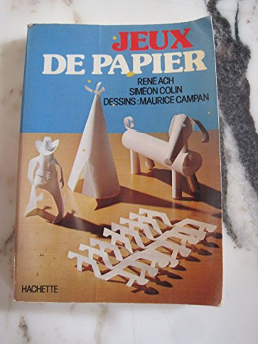 9782010038556: Jeux de papier (French Edition)