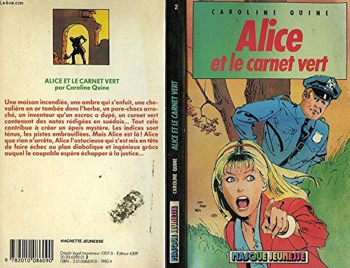 9782010086090: Alice et le carnet vert (Masque jeunesse)