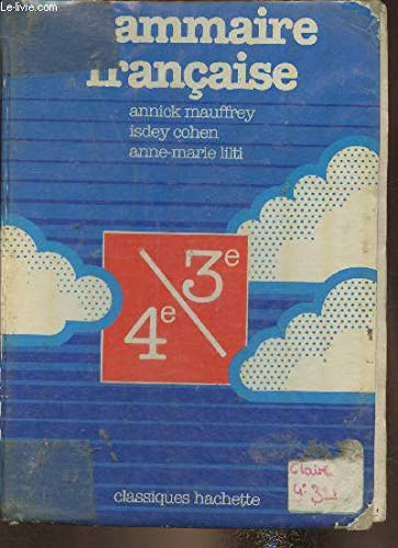 9782010087820: GRAMMAIRE FRANCAISE 4EME + 3EME
