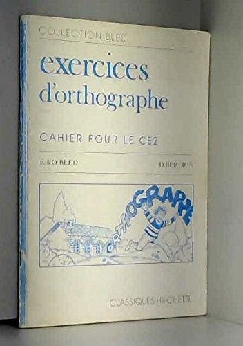 9782010098246: CAHIER D'ORTHOGRAPHE CE2