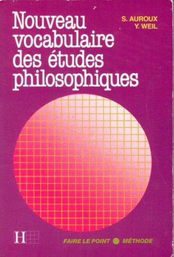 9782010105272: Nouveau vocabulaire des études philosophiques