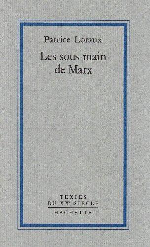 9782010120770: Les sous-mains de Marx : Introduction � la critique de la publication politique