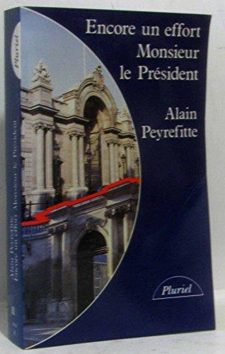 9782010124556: Encore un effort, Monsieur le Président (Pluriel)