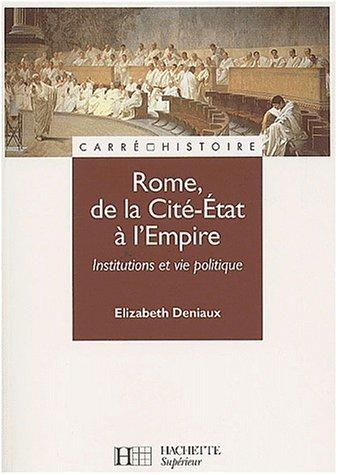 9782010170287: Rome, de la Cité-Etat à l'Empire