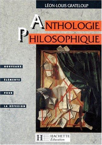 9782010187155: Anthologie philosophique