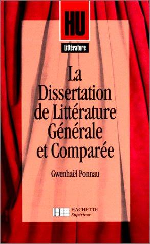 9782010188671: La Dissertation de littérature générale et comparée